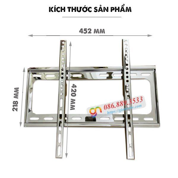 gia treo tivi sat tuong inox 32 55 inch 2 600x600 - GIÁ TREO TIVI BẰNG INOX 32 - 55 INCH - SÁT TƯỜNG 2.6 CM