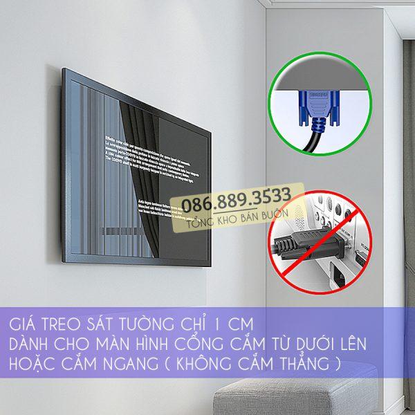 GIA TREO MAN HINH MAY TINH GAN TUONG N2 17 27 INCH 2 600x600 - Giá Treo Màn Hình Máy Tính N2 14 - 27 Inch - Gắn Tường Siêu Mỏng