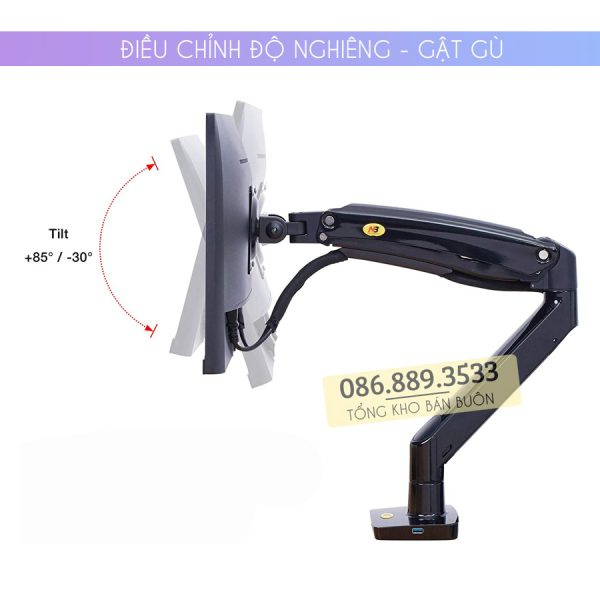 GIA TREO TAY TREO DO MAN HINH MAY TINH MONITOR 22 35 INCH F100A 5 600x600 - Giá treo màn hình máy tính NB F100A 22 - 35 inch - Mẫu Mới Nhất