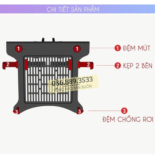 gia do kep laptop may tinh bang ipad macbook 10 16 inch 5 600x600 - GIÁ ĐỠ – KỆ ĐỂ – KẸP LAPTOP – MACBOOK – IPAD LOCTEK DA1 10.1 – 17.3 INCH