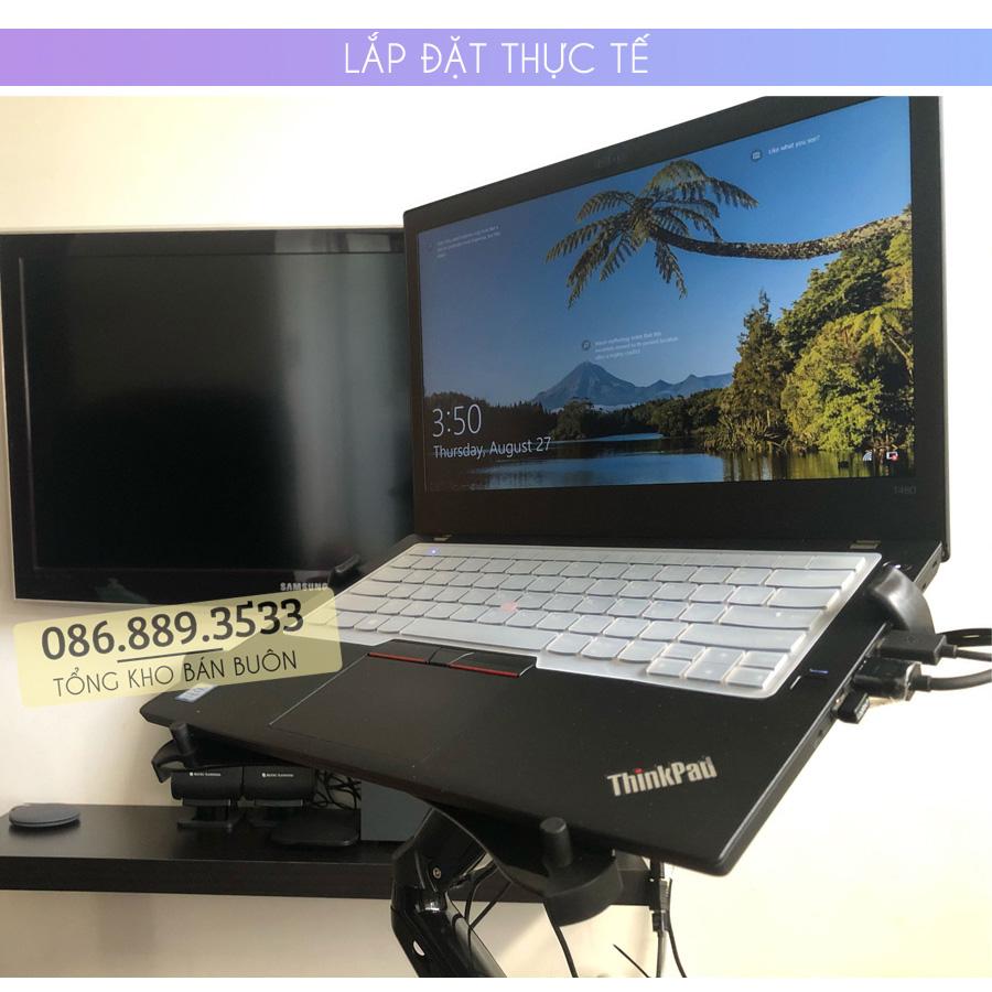 gia do kep laptop may tinh bang ipad macbook 10 16 inch 6 1 - GIÁ ĐỠ – KỆ ĐỂ – KẸP LAPTOP – MACBOOK – IPAD LOCTEK DA1 10.1 – 17.3 INCH