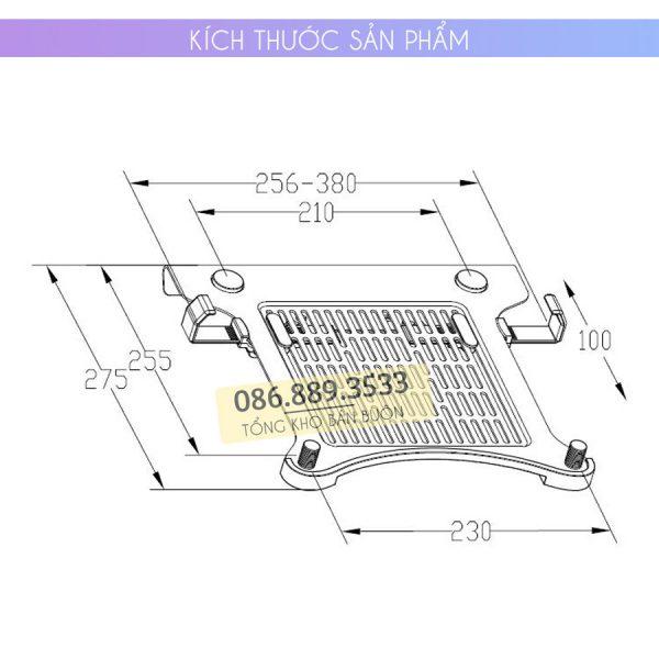 gia do kep laptop may tinh bang ipad macbook 10 16 inch 8 1 600x600 - GIÁ ĐỠ – KỆ ĐỂ – KẸP LAPTOP – MACBOOK – IPAD LOCTEK DA1 10.1 – 17.3 INCH