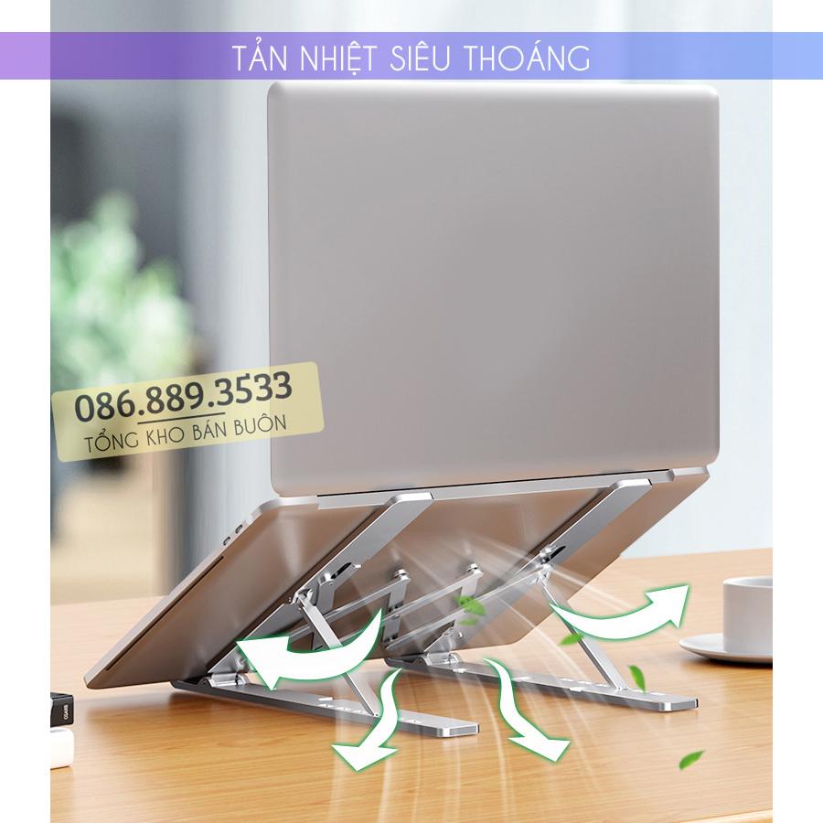 gia do laptop macbook may tinh bang tan nhiet 2 - Giá Đỡ Laptop Macbook Stand LS501 10 - 17 Inch - Hợp Kim Nhôm