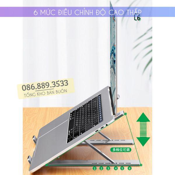 gia do laptop macbook may tinh bang tan nhiet 3 600x600 - Giá Đỡ Laptop Macbook Stand LS501 10 - 17 Inch - Hợp Kim Nhôm