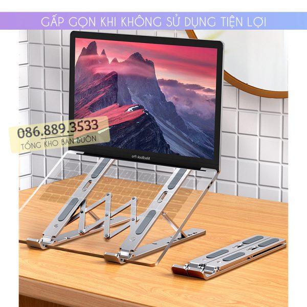gia do laptop macbook may tinh bang tan nhiet 4 600x600 - Giá Đỡ Laptop Macbook Stand LS501 10 - 17 Inch - Hợp Kim Nhôm