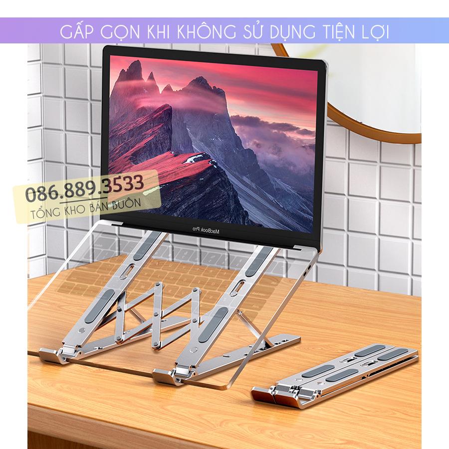 gia do laptop macbook may tinh bang tan nhiet 4 - Giá Đỡ Laptop Macbook Stand LS501 10 - 17 Inch - Hợp Kim Nhôm