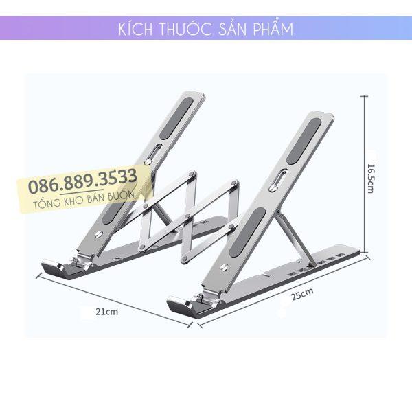 gia do laptop macbook may tinh bang tan nhiet 7 600x600 - Giá Đỡ Laptop Macbook Stand LS501 10 - 17 Inch - Hợp Kim Nhôm