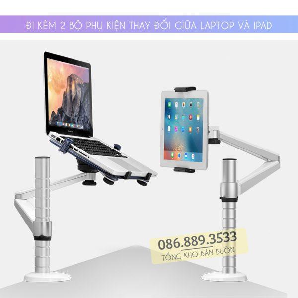 gia treo do laptop macbook may tinh bang oa 1s 10 15.6 inch 3 600x600 - GIÁ ĐỠ LAPTOP – MACBOOK – IPAD OA-1S 10 – 15.6 INCH