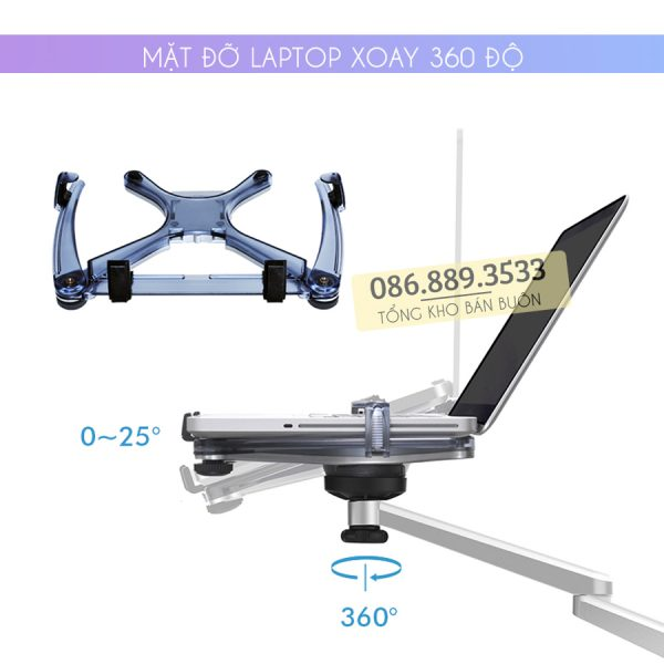 gia treo do laptop macbook may tinh bang oa 1s 10 15.6 inch 9 600x600 - GIÁ ĐỠ LAPTOP – MACBOOK – IPAD OA-1S 10 – 15.6 INCH