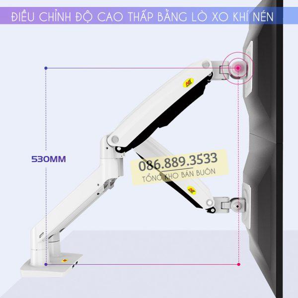 gia treo man hinh may tinh nb f195a 22 32 inch 5 600x600 - Giá Treo Hai Màn Hình NB F195A 22 - 32 Inch - Mẫu Mới Nhất