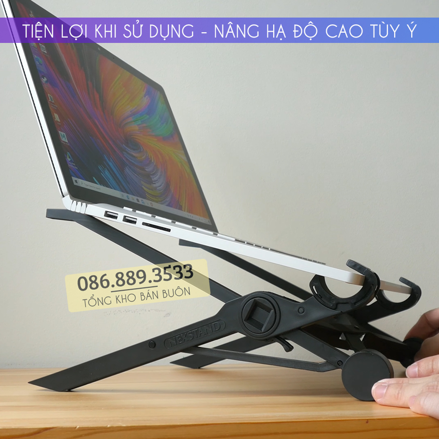 ke de gia do macbook laptop nexstand k2 4 - Giá đỡ Laptop, Macbook NEXSTAND K2 11.6 - 15.6 Inch